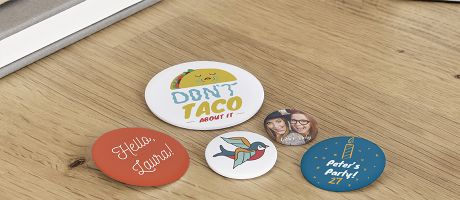 If you have five minutes, you can get your badges. | Camaloon