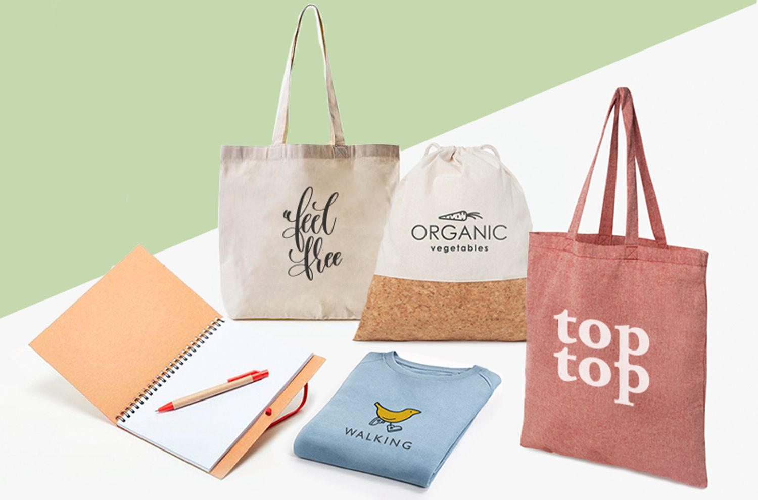 Sustainable, organic and eco-friendly promotional products