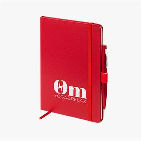 A5 hardcover notebooks with pen