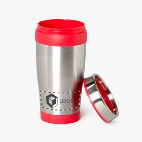 Stainless steel classic style insulated travel mugs | 420 ml