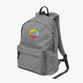 Polyester backpacks with padded back panel