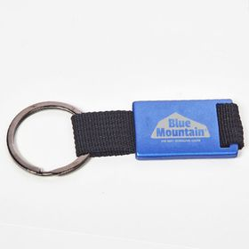 Keyrings with coloured metal plate