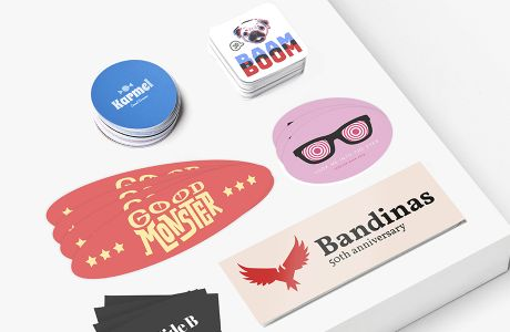Polyester-stickers: standardformat | Camaloon
