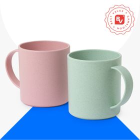 Best Value® plastic and bamboo fiber mugs | 300 ml