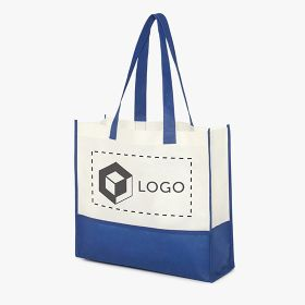 Bicolour nonwoven fabric shopping bags 80 g/m²