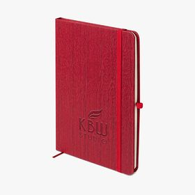A5 hardcover notebooks with wooden effect (debossed) accessibility.image