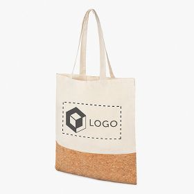 Cotton and cork Tote bags 160 g/m²
