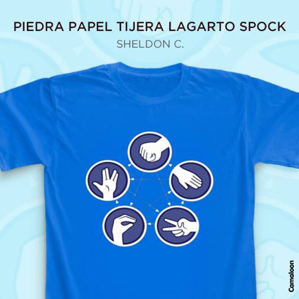piedra papel tijera lagarto spock sheldon cooper camisetas the big bang theory comprar