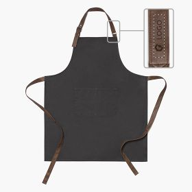 Cotton canvas aprons with synthetic leather straps