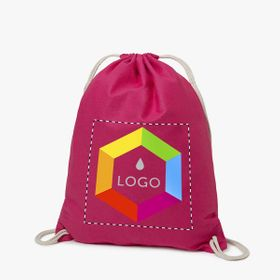 Cotton drawstring bags 140 g/m²