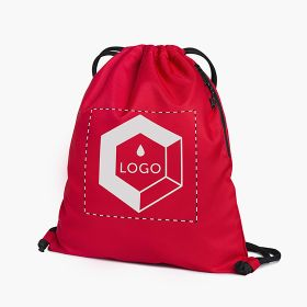 Recycled polyester drawstring bags