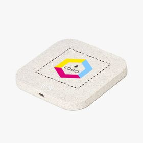 Square wireless wheat straw chargers