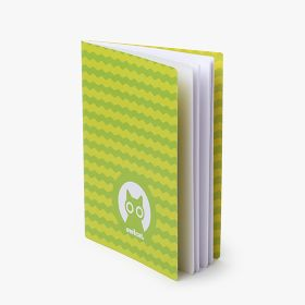 A5 stapled notebooks with full cover printing