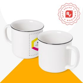 Best Value® Taza vintage de cerámica | 350 ml