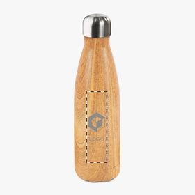 Insulated steel bottle with a wood pattern | 500 ml