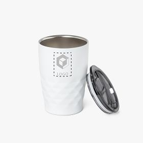 Insulated cup in stainless steel with lid | 350 ml