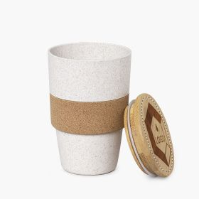 Reusable coffee cups in bamboo fibre and cork | 420 ml