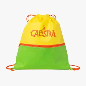 Kids non woven fabric drawstring bags