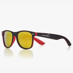 Two colour classic-frame sunglasses