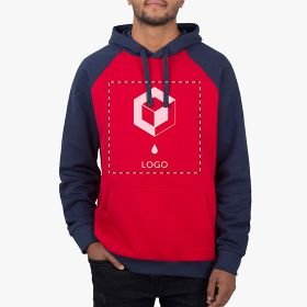 Hoodies unisexo bicolor Sol's Seattle