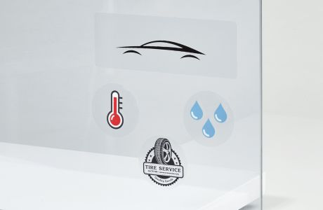 Clear standard shape screen-printed stickers | Camaloon