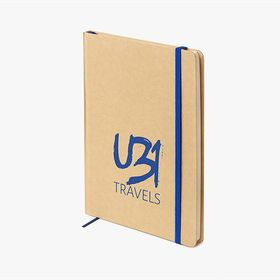 A5 notebooks with natural cardboard cover