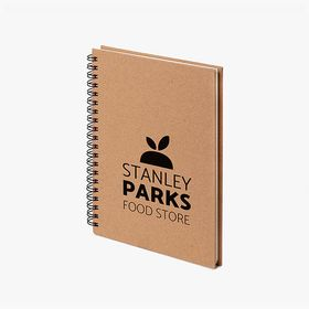 A6 spiral notebooks with recycled cover