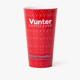 Reusable plastic cups (full wrap around printing) | 500 ml