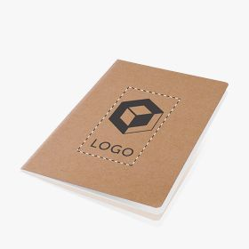 A5 ecological notebook with recycled paper