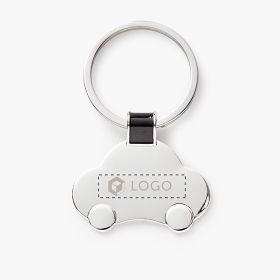 Small car-shaped metal keychains
