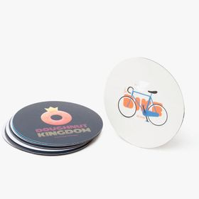 Promotional round flexible magnets
