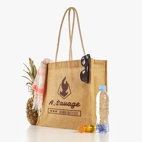 Jute beach bag image