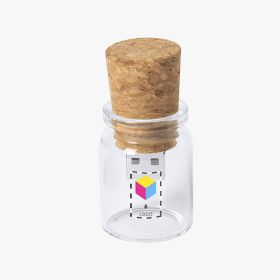 Cork and crystal USB flash drive