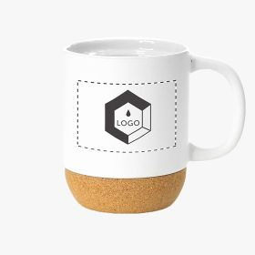 Ceramic mugs with cork base | 420 ml
