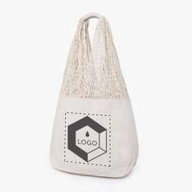 Cotton and mesh shopping bags | 220 g/m²