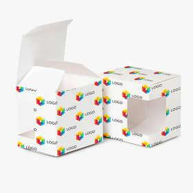 Full color box for a mug with a window