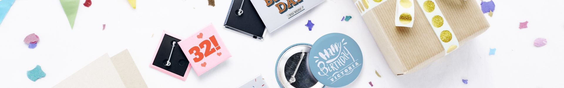 Birthday badges | Camaloon