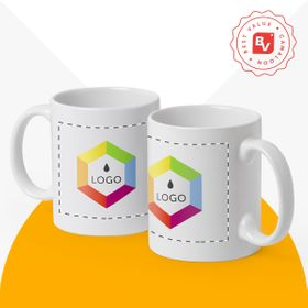 Best Value® white ceramic mugs | 350 ml