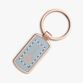 Metal key rings with coloured enamel