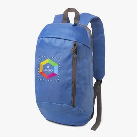 Small sport backpacks with front pocket (Full-colour printing)