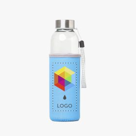 Botella de vidrio con funda de neopreno | 500 ml