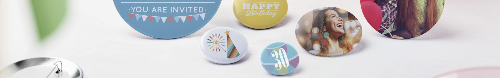 Buttons for parties and celebrations | Camaloon