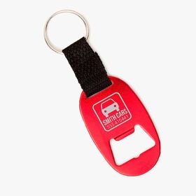 Flexible bottle opener keychain