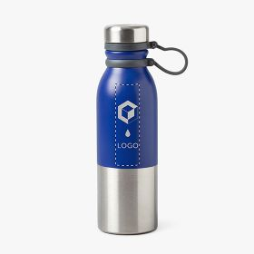 Insulated bottles in stainless steel with silicone handle | 600 ml