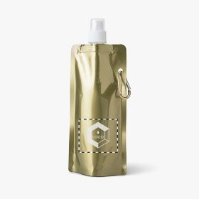 Metallic foldable sports bottles | 460 ml