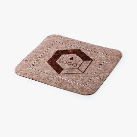 Natural cork mouse pads