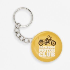 Round 45 mm ø badge key rings
