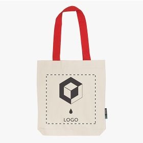 Neutral® twill tote bag in organic Fairtrade cotton and colored handles 210 g/m²