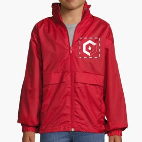 Kids windbreakers with concealed hood Surf Kids