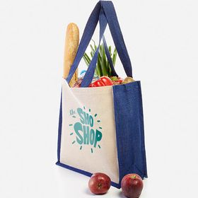 Two-tone jute shopping bags 300 g/m²